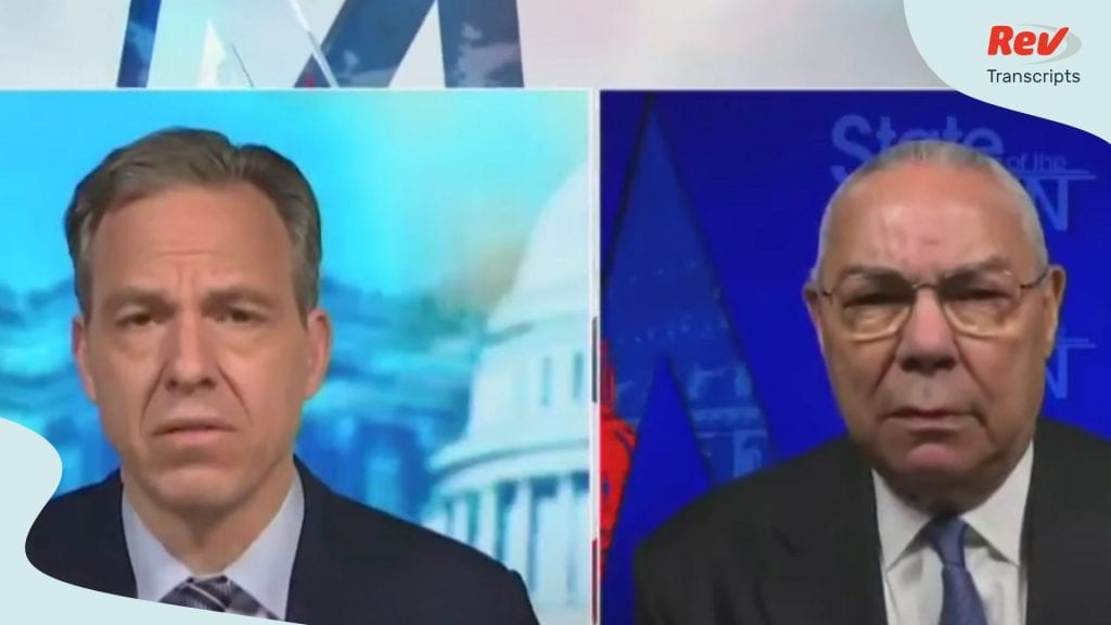 Colin Powell Says He will be Voting for Joe Biden