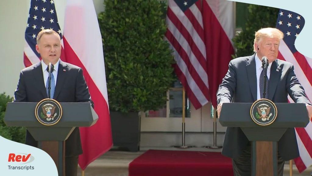 Donald Trump Polish President Press Conference June 24