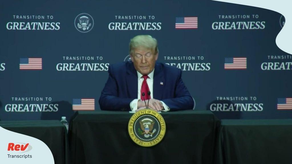 Donald Trump Press COnference on Justice Disparities June 11