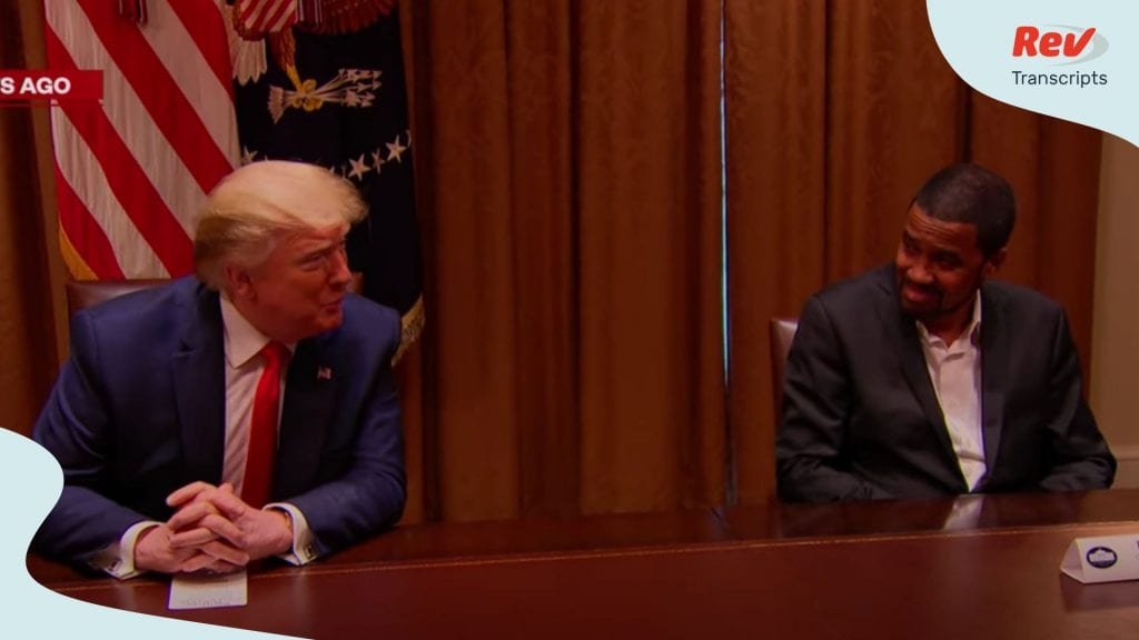Donald Trump Roundtable on race relations with prominent black leaders