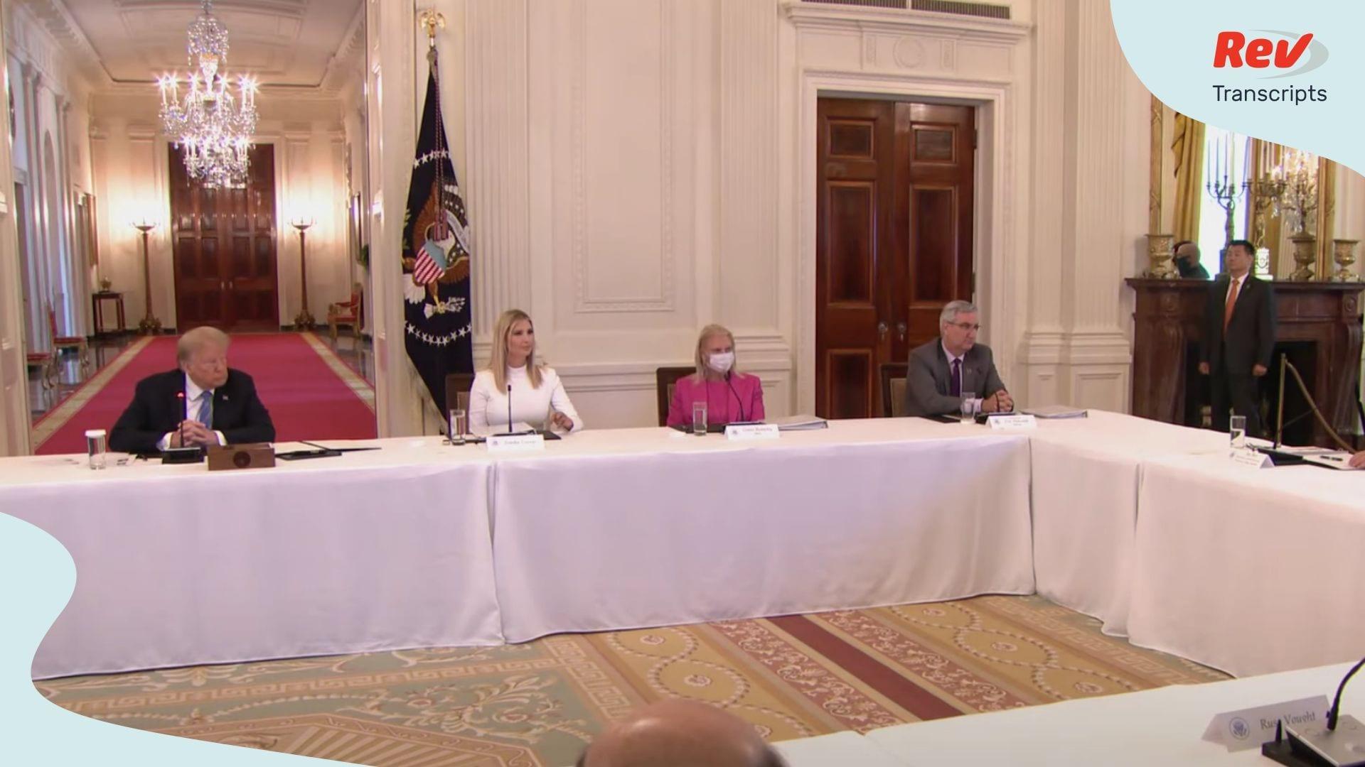 Donald Trump Speech to American Workforce Policy Advisory Board