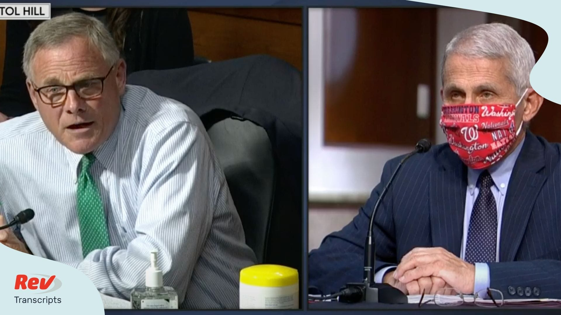 Dr. Fauci, CDC Director Redfield Testimony Transcript for Senate Committee on Health, Education, Labor, and Pensions