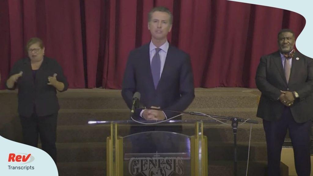 Gavin Newsom Press Conference Transcript June 1