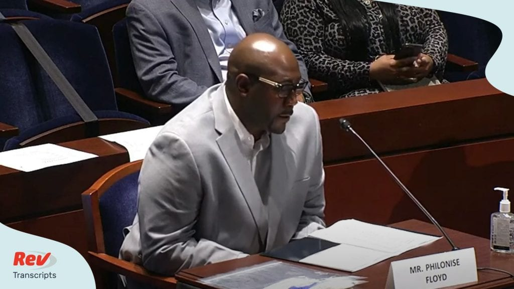 George Floyd's Brother Testimony on Police Brutality