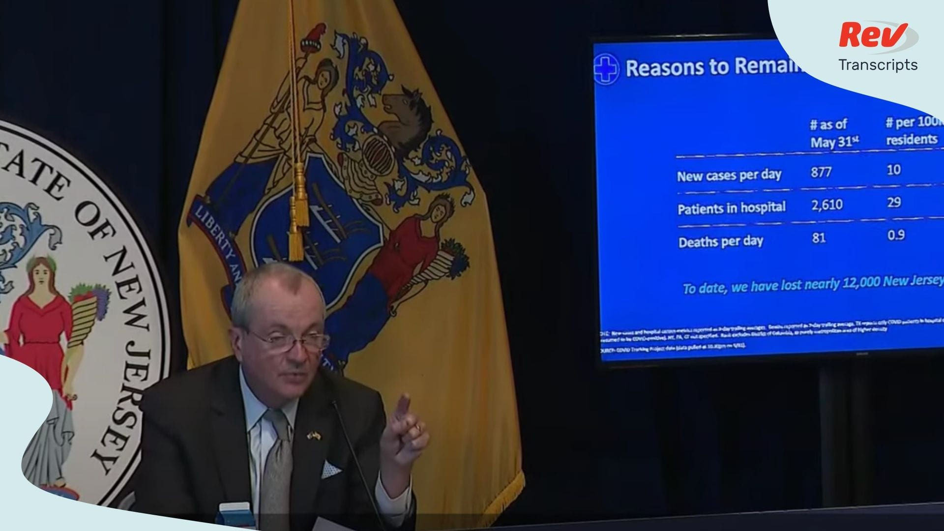 Governor Phil Murphy Press Conference June 1