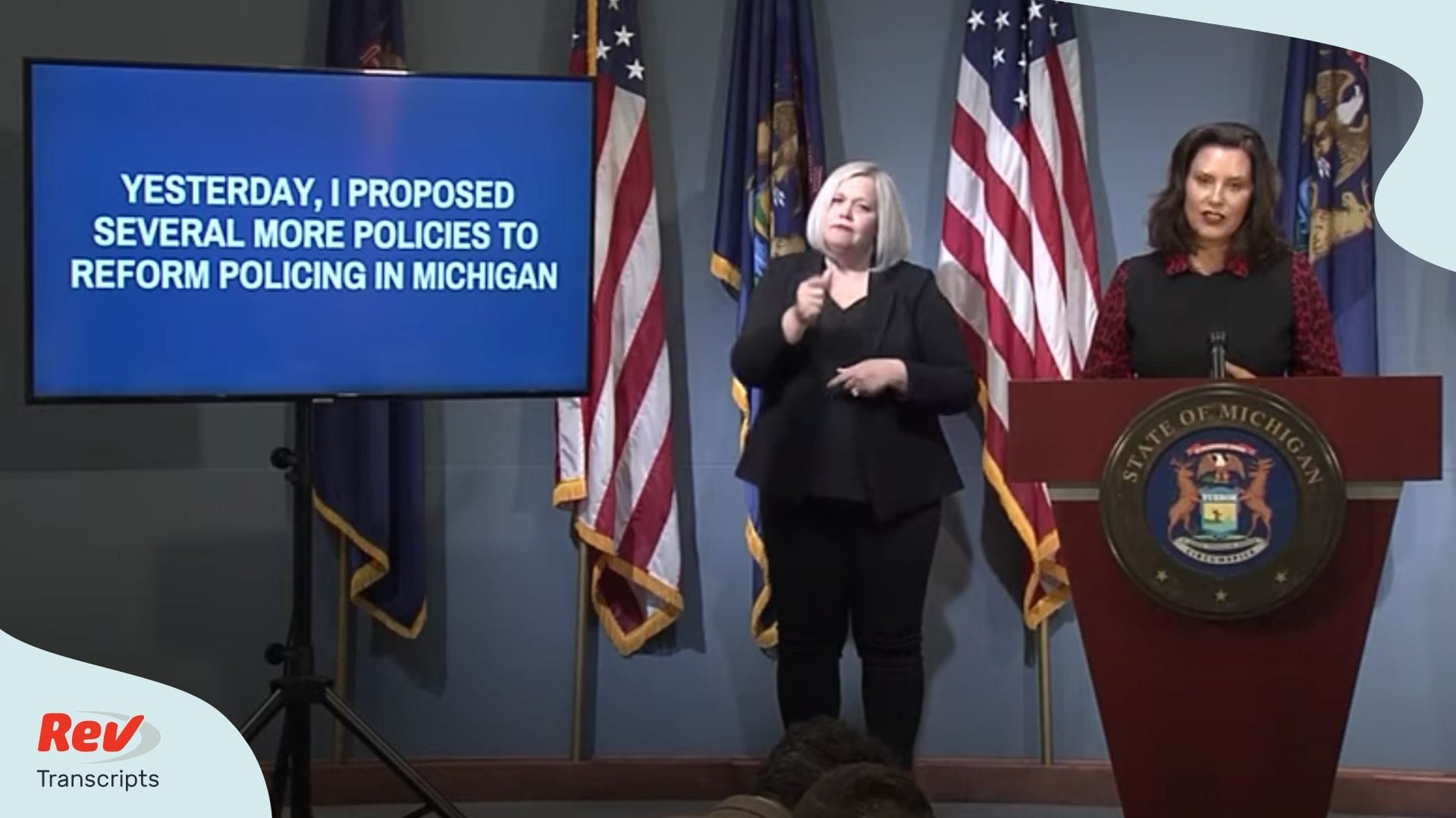 Gretchen Whitmer Michigan Press Conference June 30