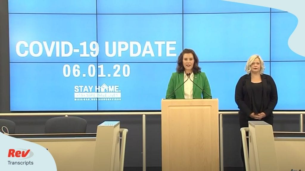 Gretchen Whitmer Press Conference June 1