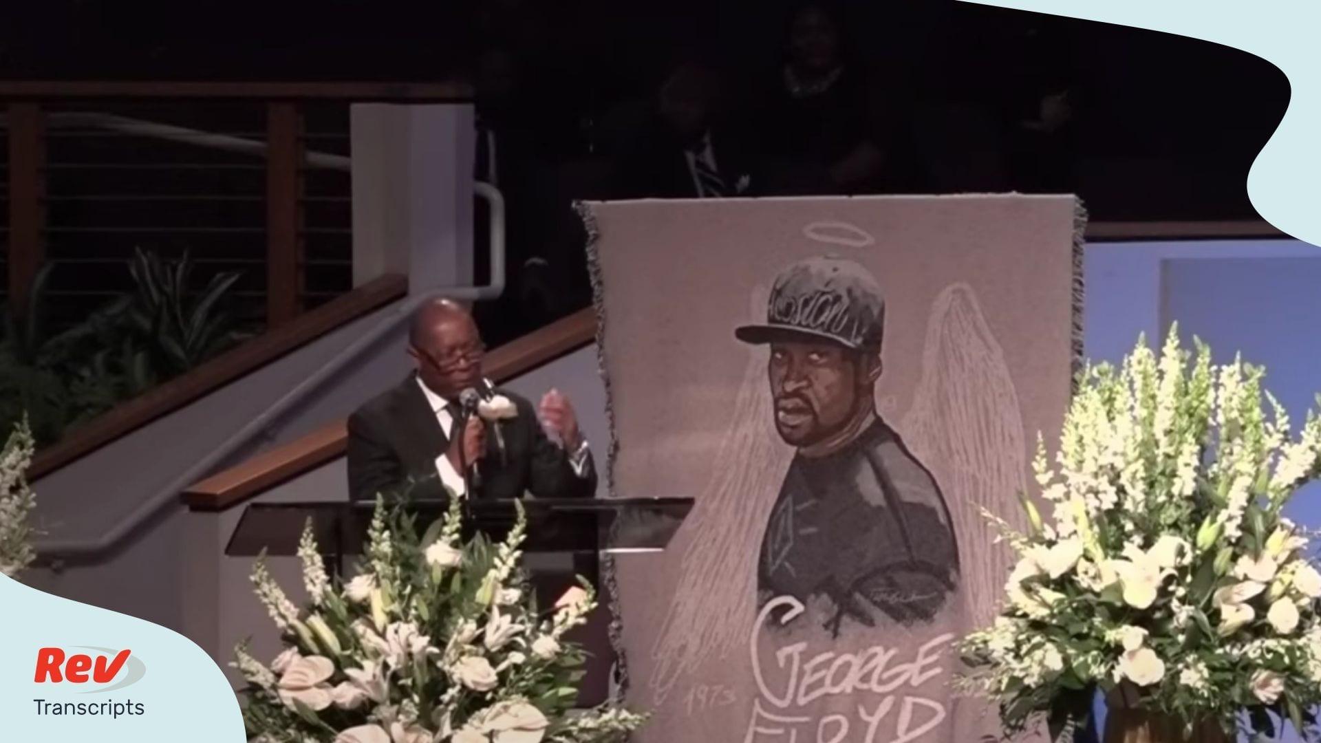 Houston Mayor Sylvester Turner Speaks at George Floyd Funeral