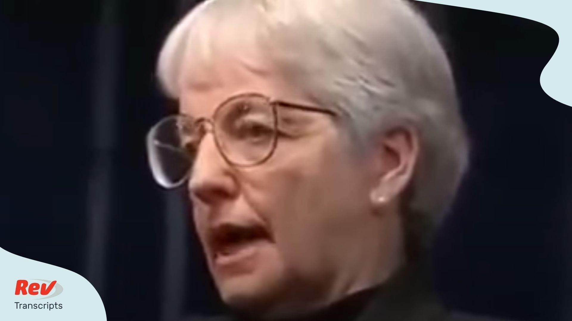 Jane Elliott Speech Transcript Race