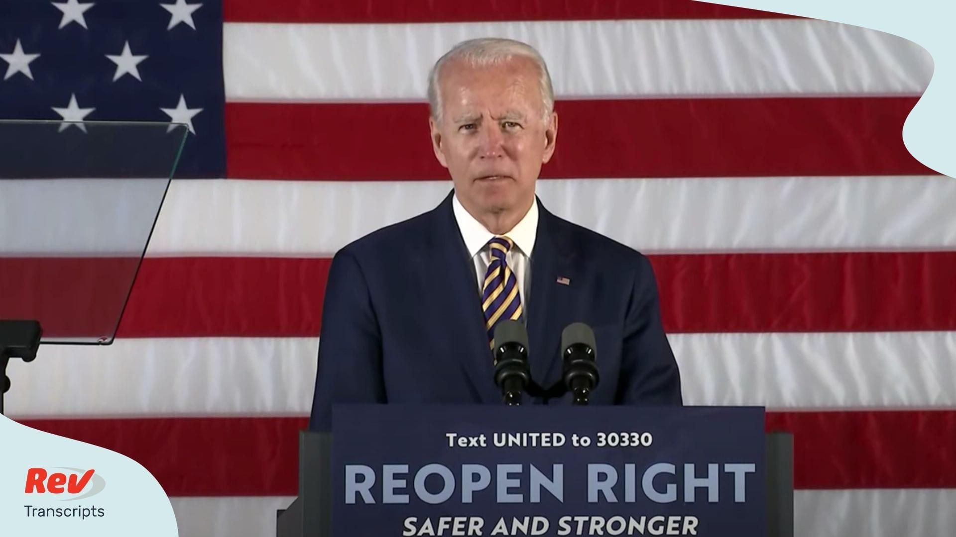 Joe Biden Speech on Coronavirus June 17