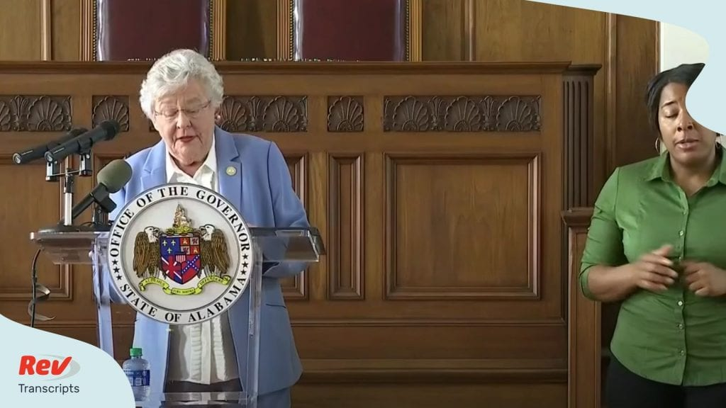 Kay Ivey Alabama Press Conference June 30