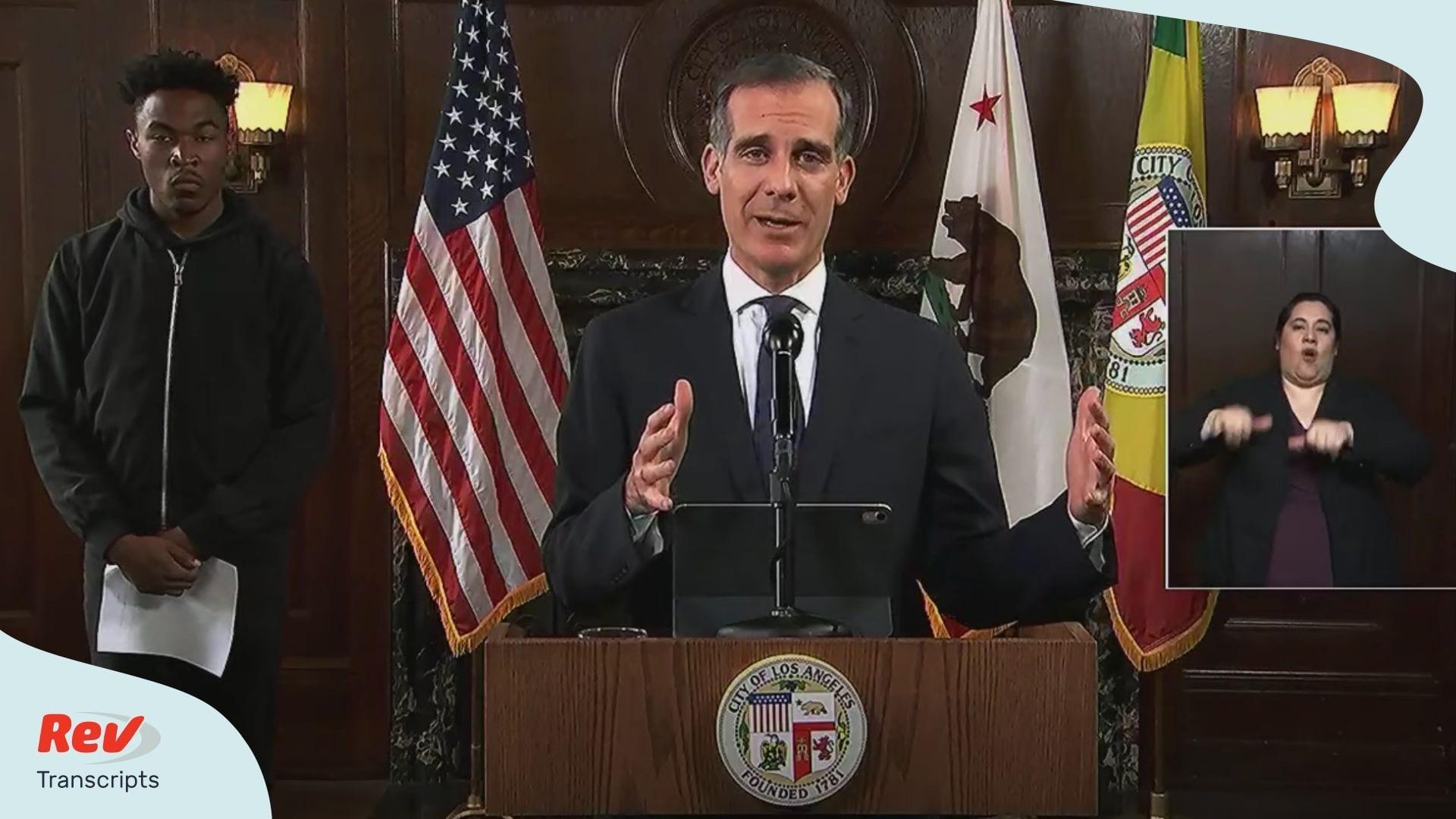 LA Mayor Eric Garcetti Spech June 2