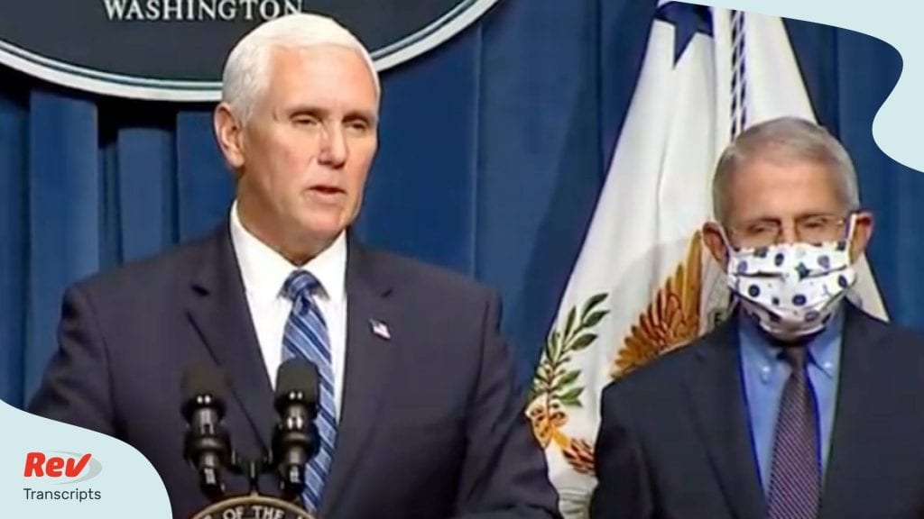 Mike Pence Dr. Fauci Coronavirus Task Force Press COnference June 26
