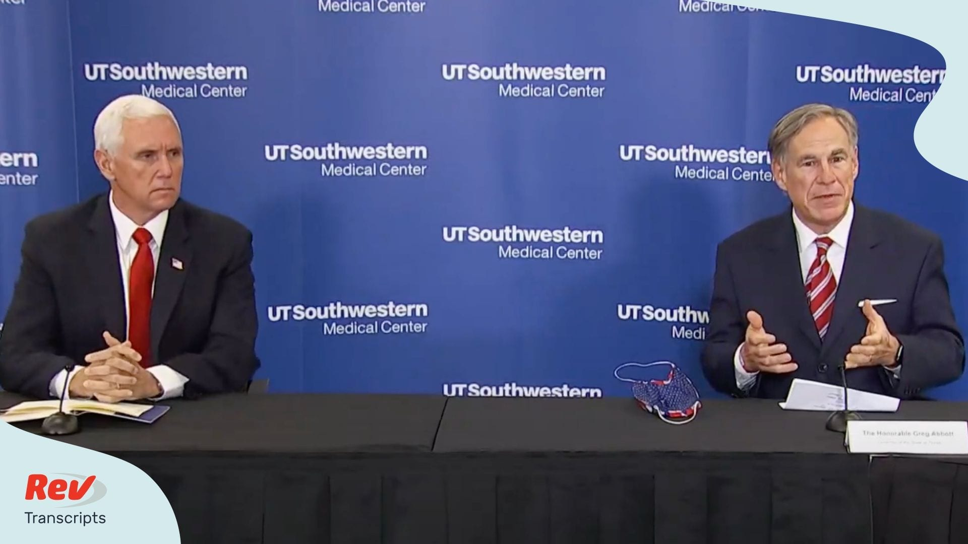 Mike Pence & Greg Abbott Press Conference Coronavirus June 28