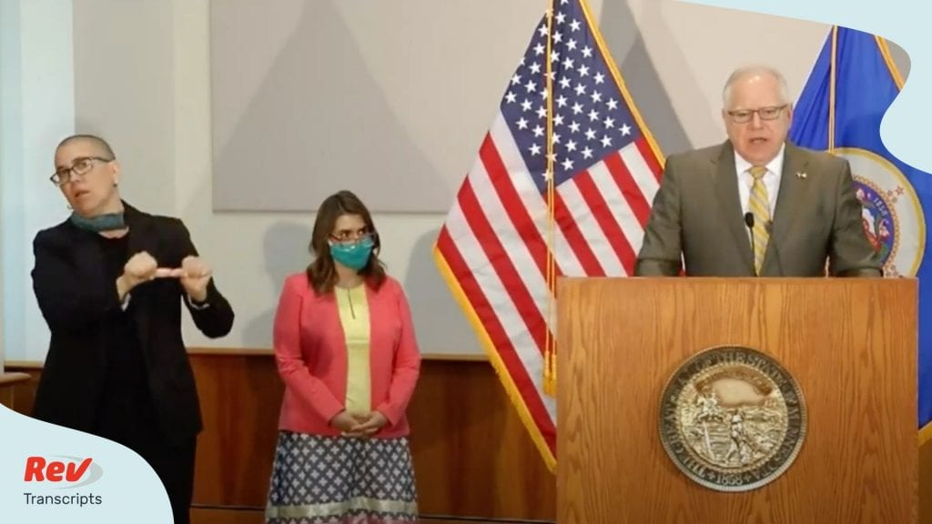 Minnesota Gov. Tim Walz Press COnference June 10