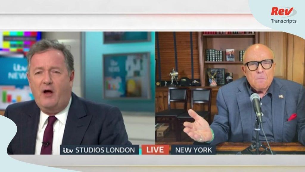 Piers Morgan Rudy Giuliani Heated Debate about Trump