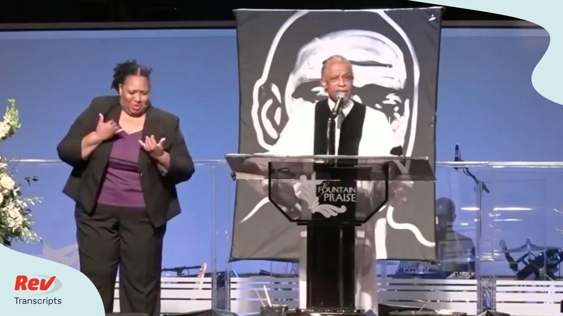 Reverend Al Sharpton George Floyd Funeral Eulogy Transcript