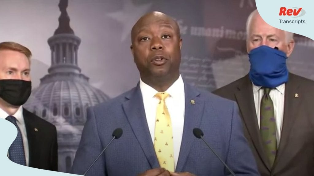 Senator Tim Scott GOP Police Reform Press Conference
