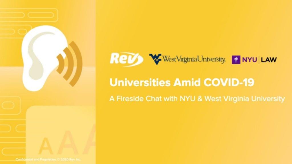 Universities and COVID-19 Coronavirus