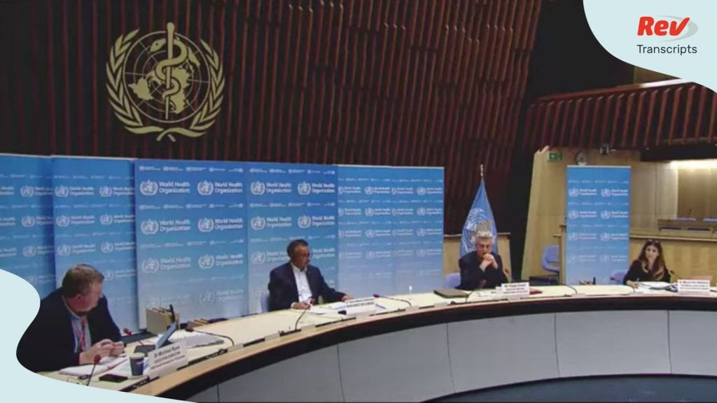 World Health Organization Briefing Press Conference June 19