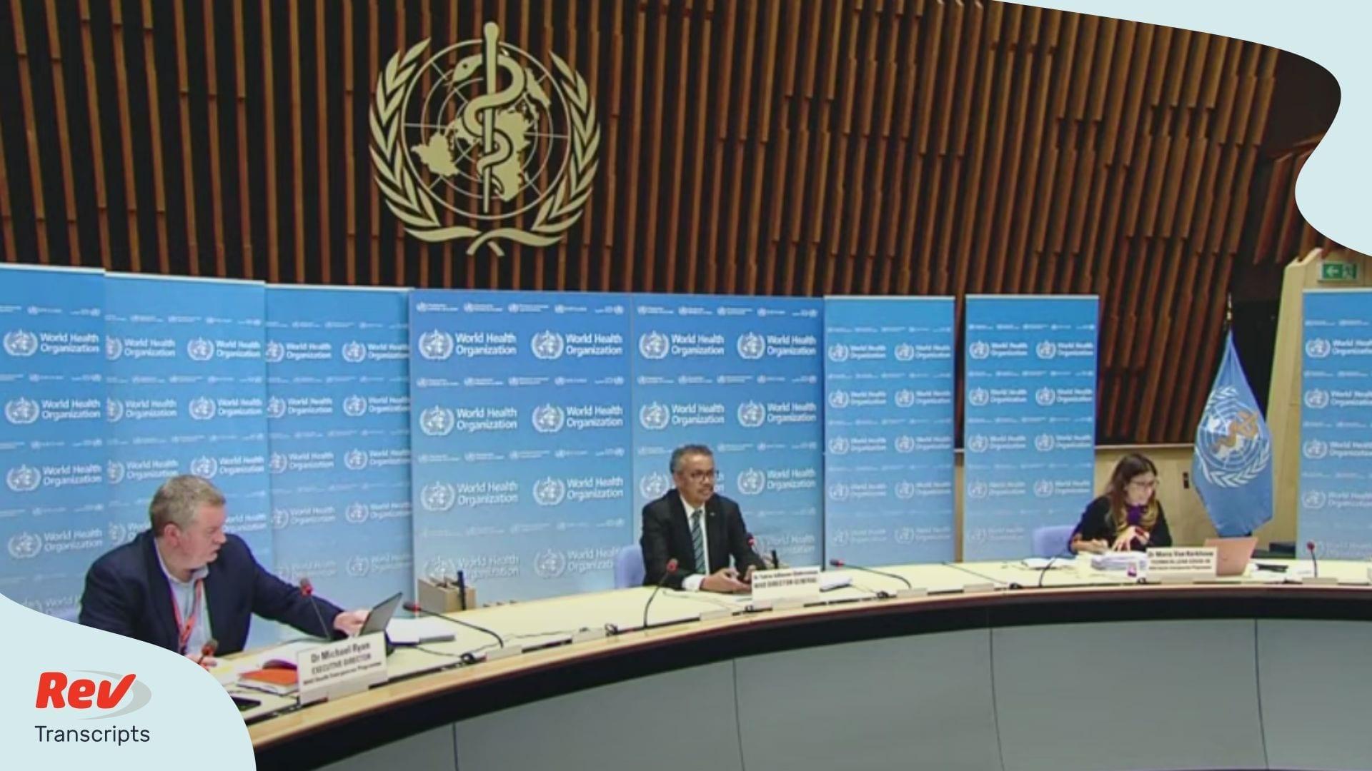 World Health Organization June 8 Press Conference