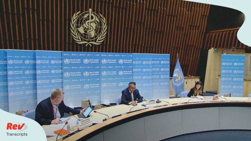 World Health Organization Press Conference June 29