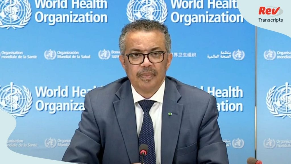 World Health Organization WHO Press Conference June 3