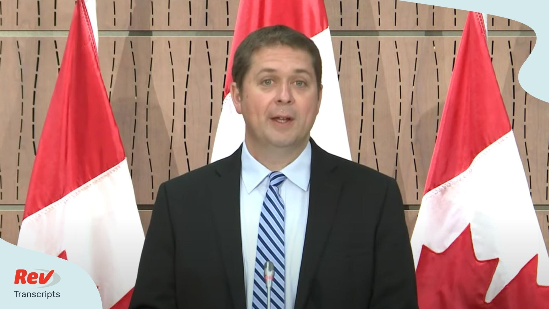 Andrew Scheer Press Conference Trudeau WE Charity Scandal