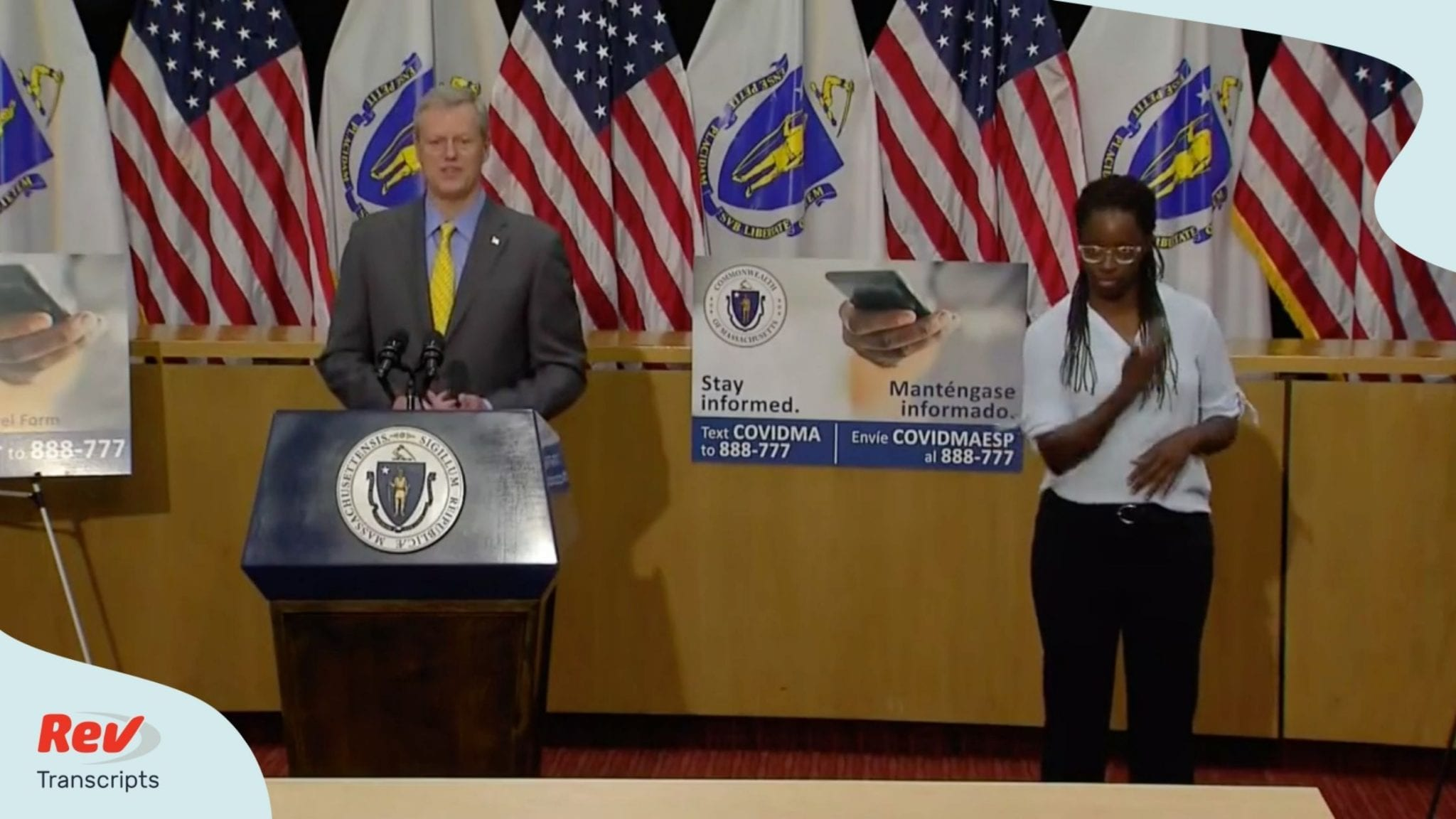 Massachusetts Governor Charlie Baker Press Conference Transcript July 24