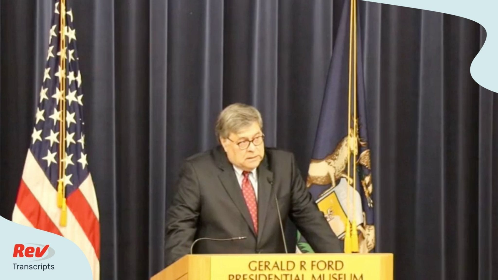 William Barr gave a speech July 16