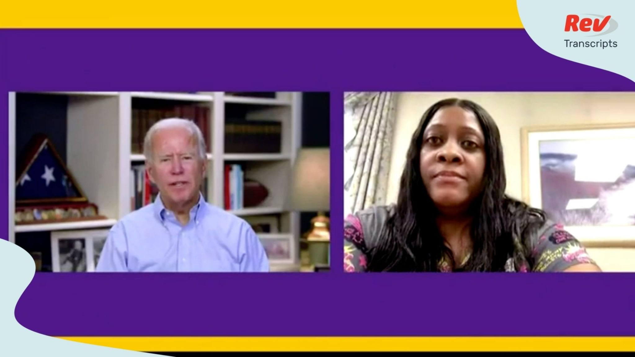 Joe Biden participates in roundtable with SEIU on July 22