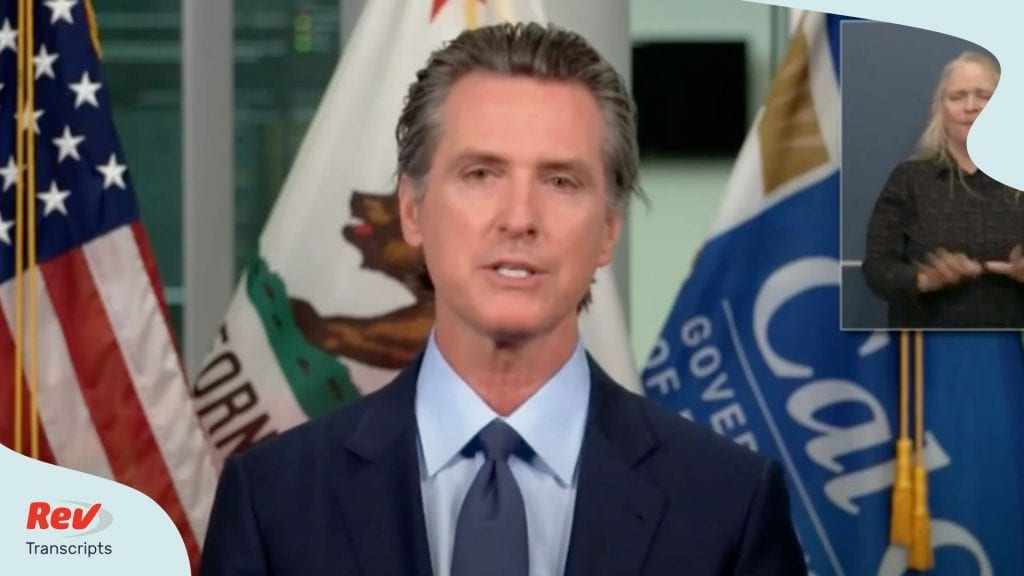 California Governor Gavin Newsom Press Conference