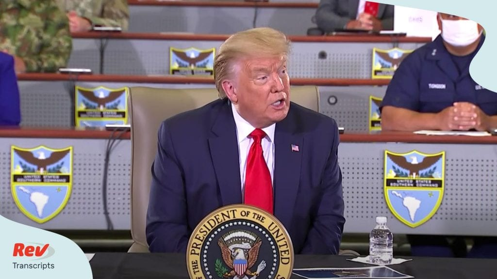 Donald Trump Briefing on Trump holds briefing about counternarcotics operations