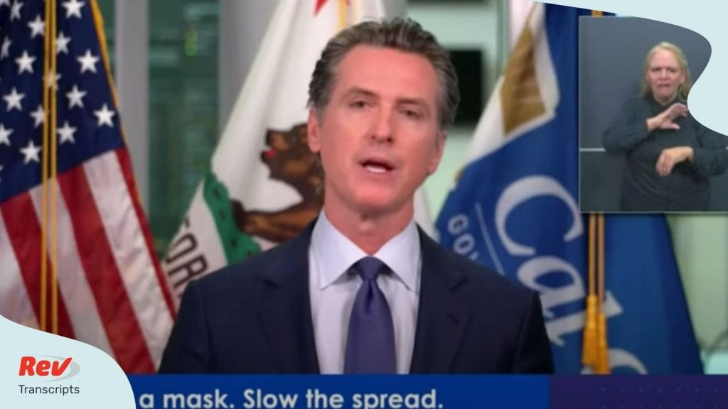 Gavin Newsom Press Conference COVID July 2