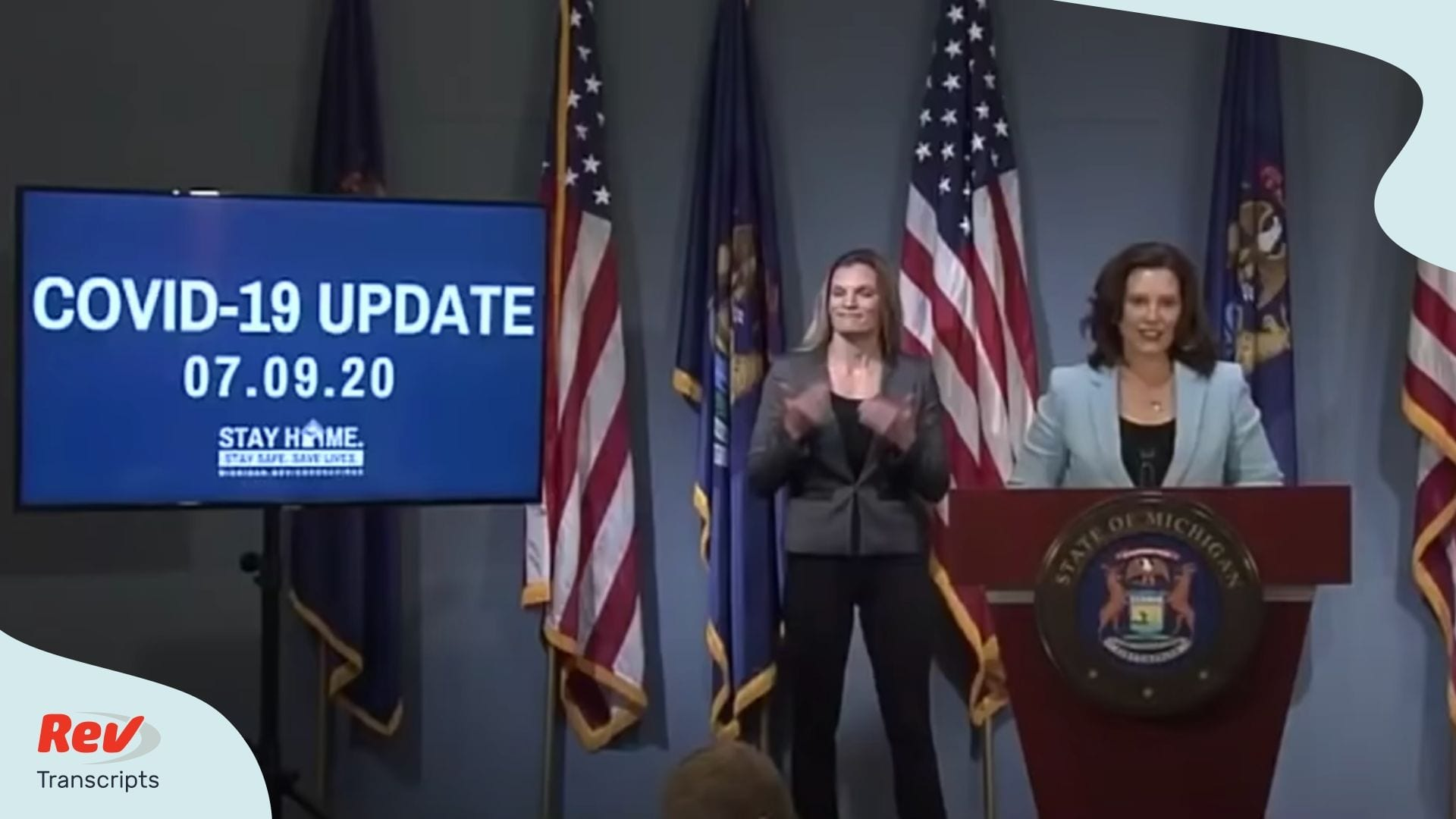 Gretchen Whitmer Press Conference July 9
