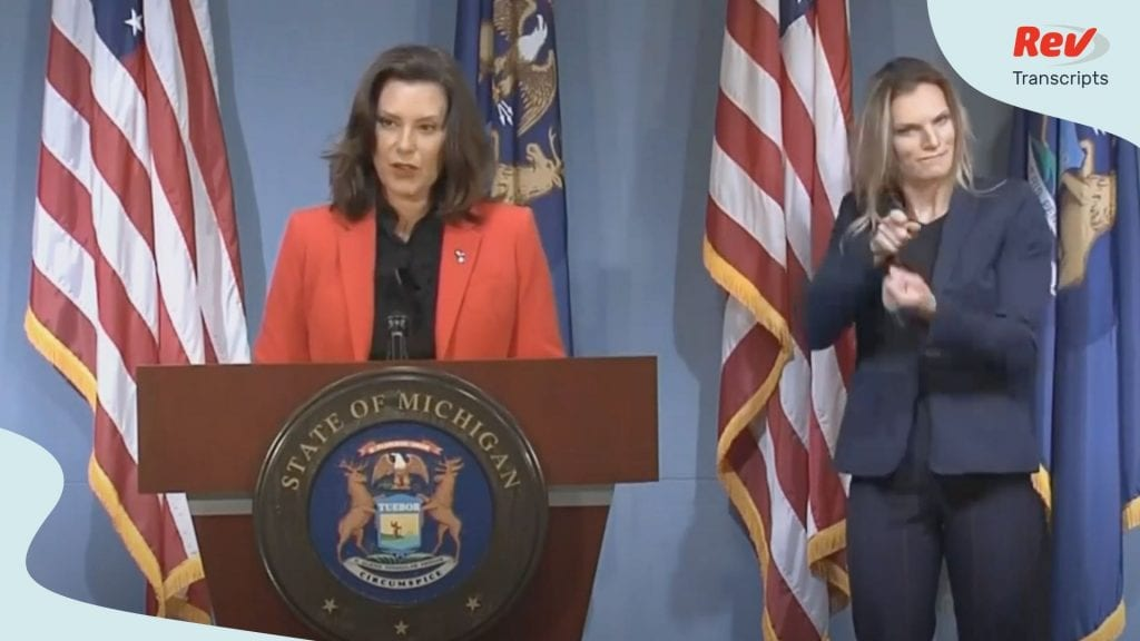 Gretchen Whitmer Press Conference Transcript July 7