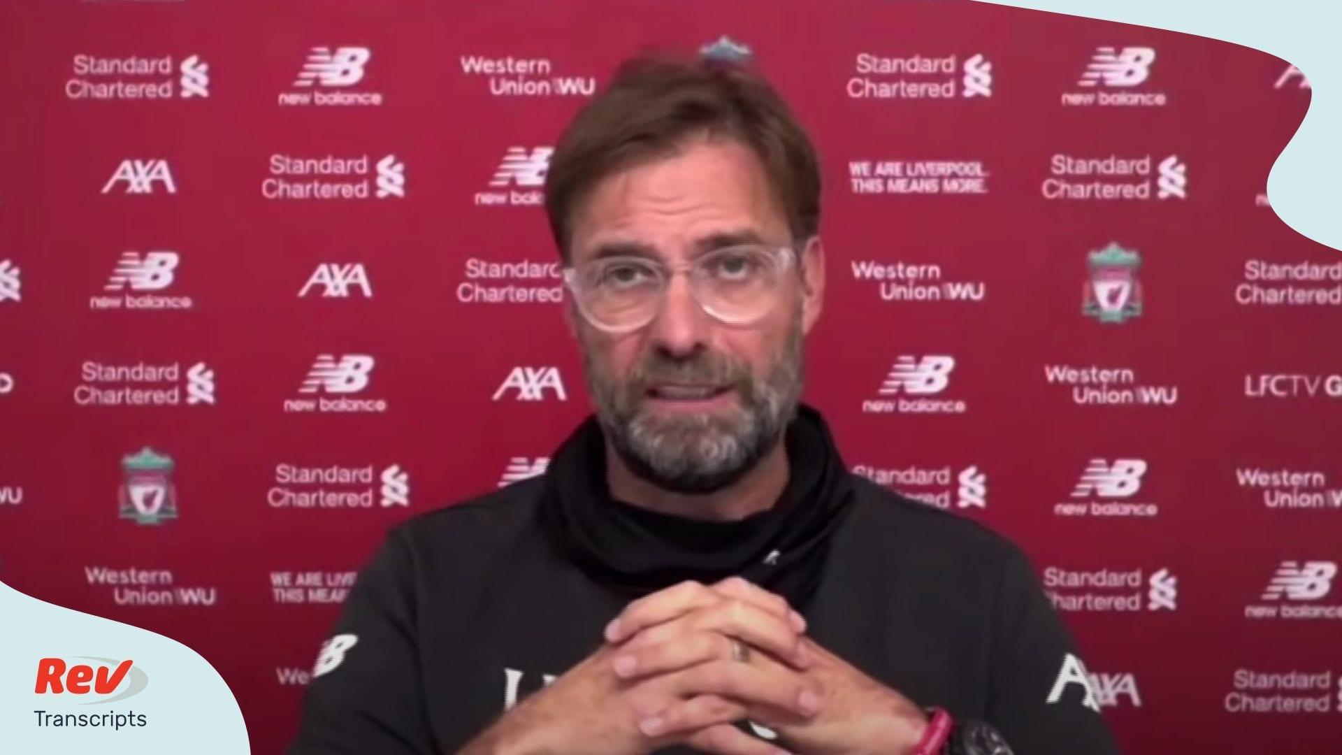 Jürgen Klopp's pre-match press conference Arsenal - Liverpool July 14