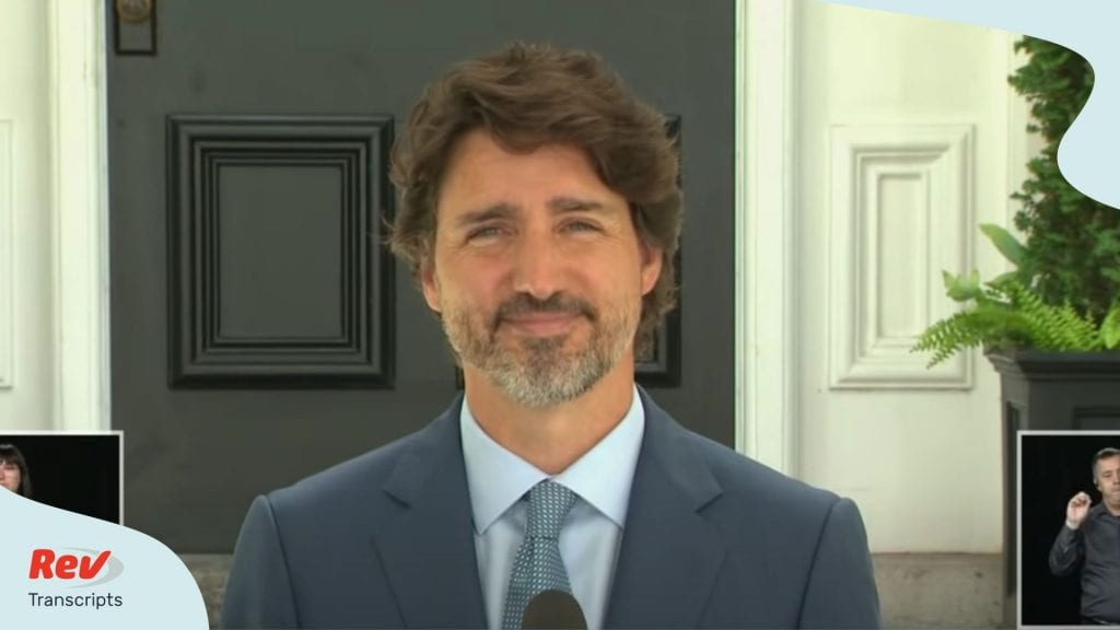 Justin Trudeau Press Conference July 13