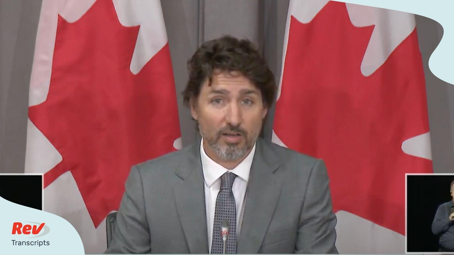 Trudeau Coronavirus Transcript July 8