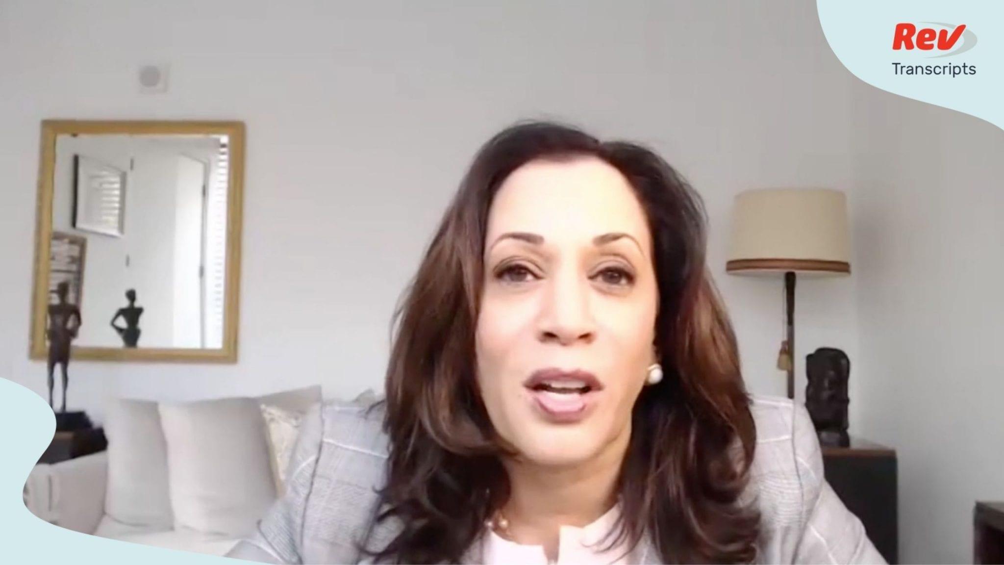 Kamala Harris Speech at Virtual Campaign Event for Joe Biden Transcript July 23