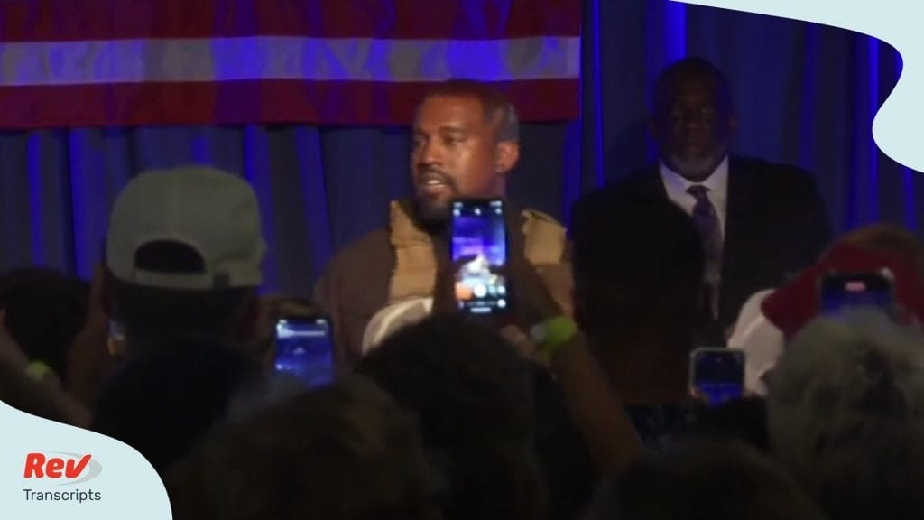 Kanye West South Carolina Rally Speech Transcript