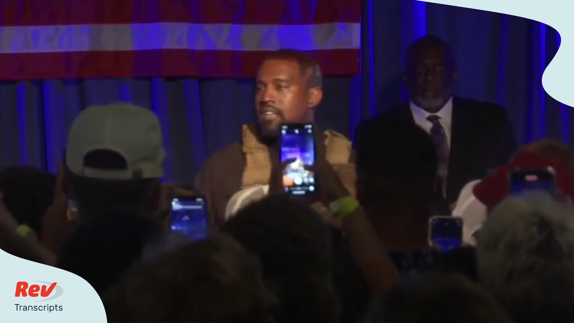 Kanye West South Carolina Rally Speech Transcript