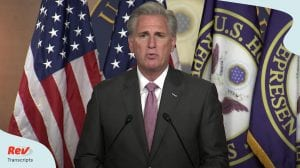 Kevin McCarthy Press Conference July 9
