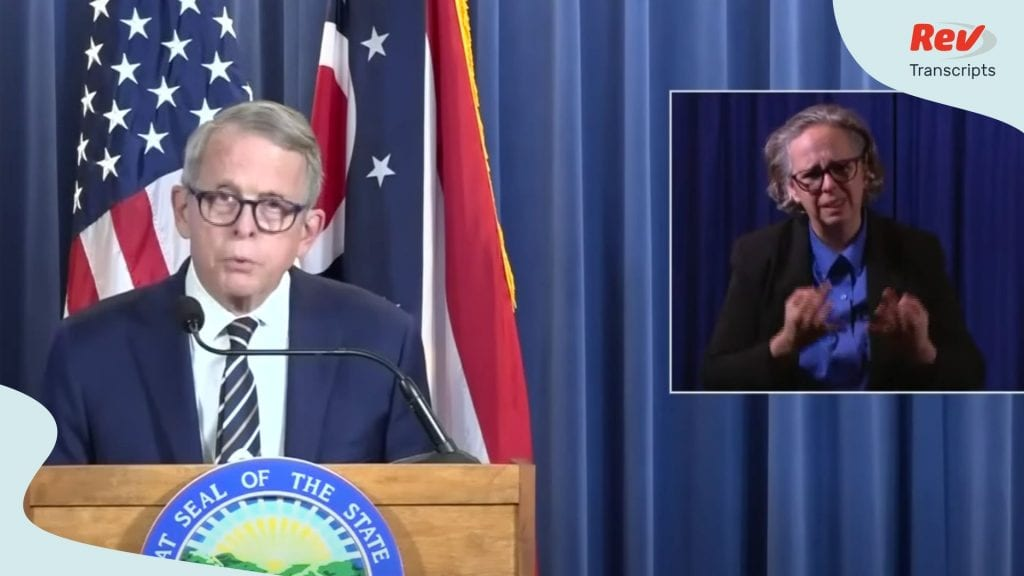 Mike DeWine Press Conference Transcript July 7