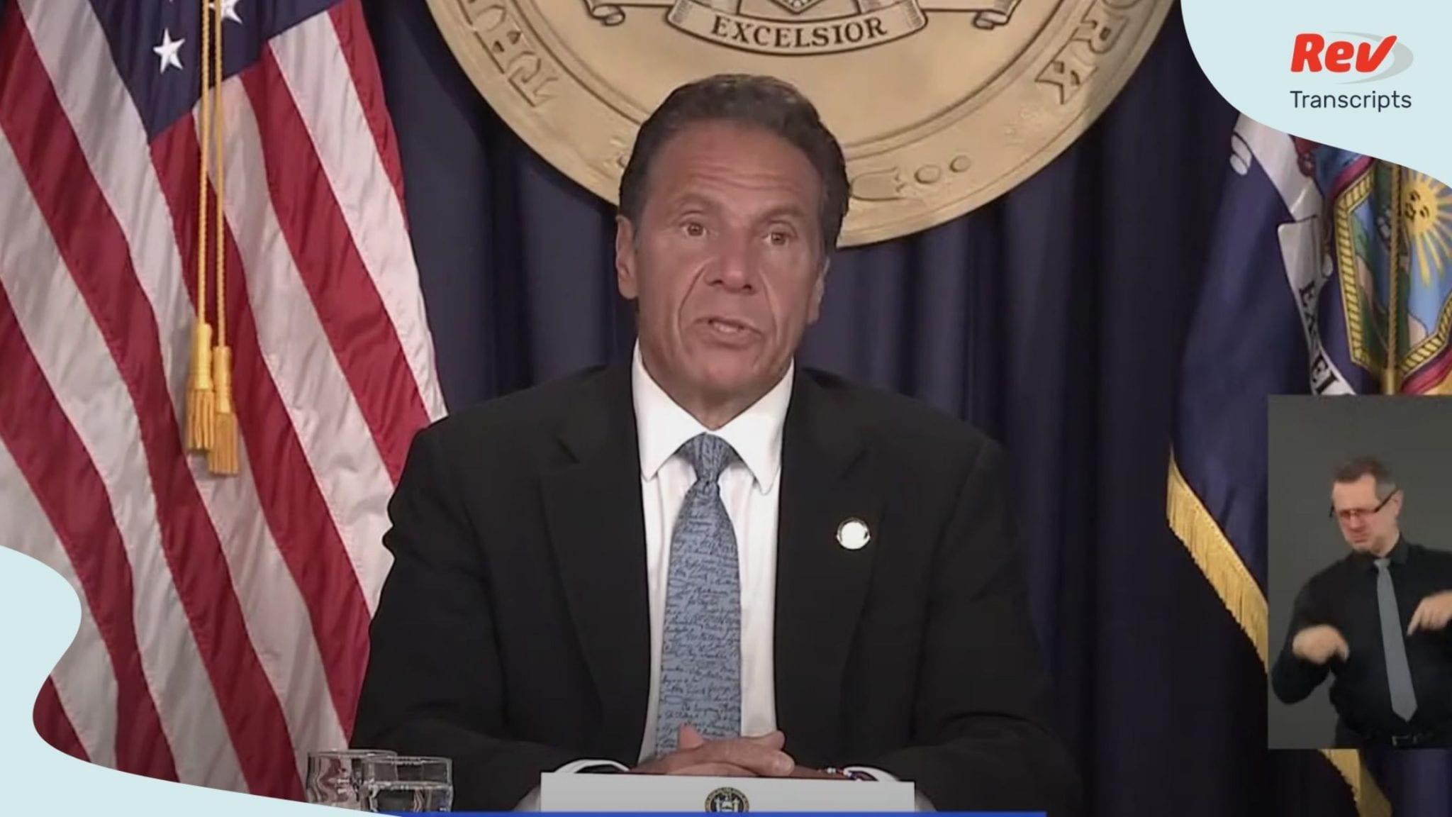 NY Governor Cuomo COVID-19 Press Conference Transcript July 23
