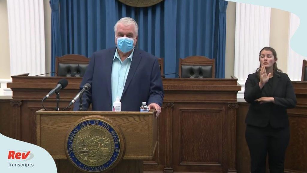 Nevada Gov. Steve Sisolak COVID-19 Press Conference Transcript July 9