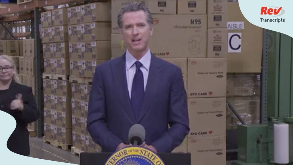 Governor Newsom gave a press conference on July 22