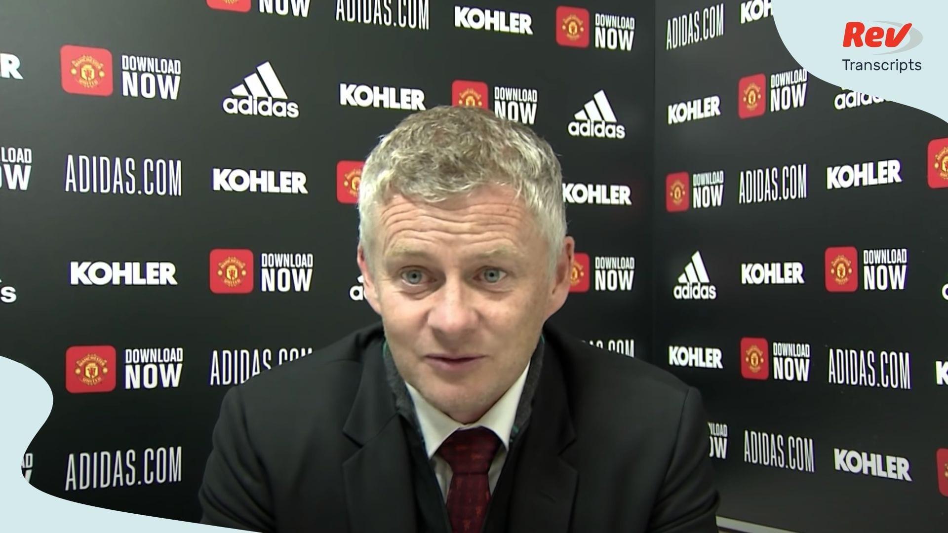 Post Match Press Conference Manchester United Southampton | Ole Gunnar Solskjaer