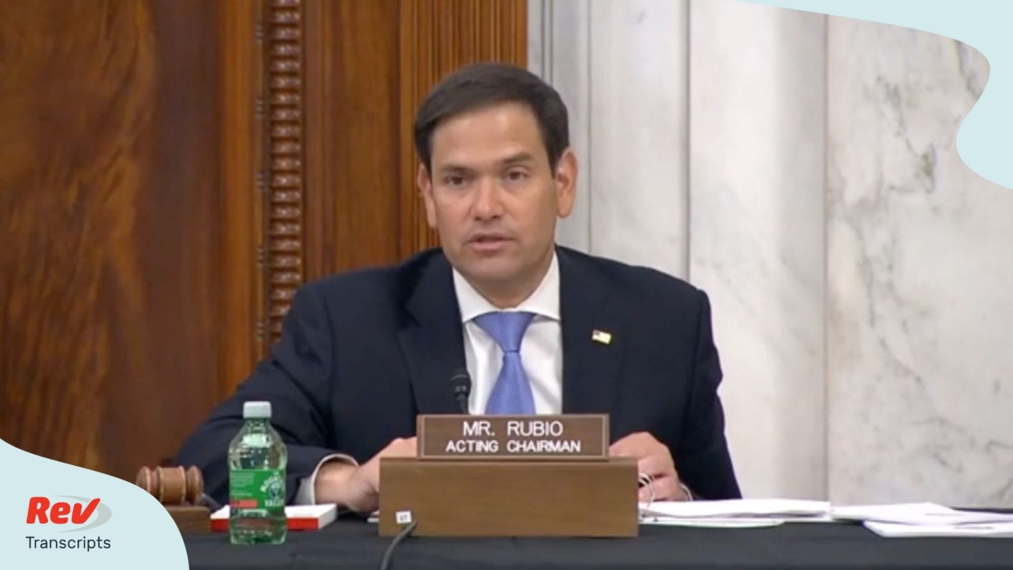 Senator Marco Rubio at a Senate confirmation hearing July 22