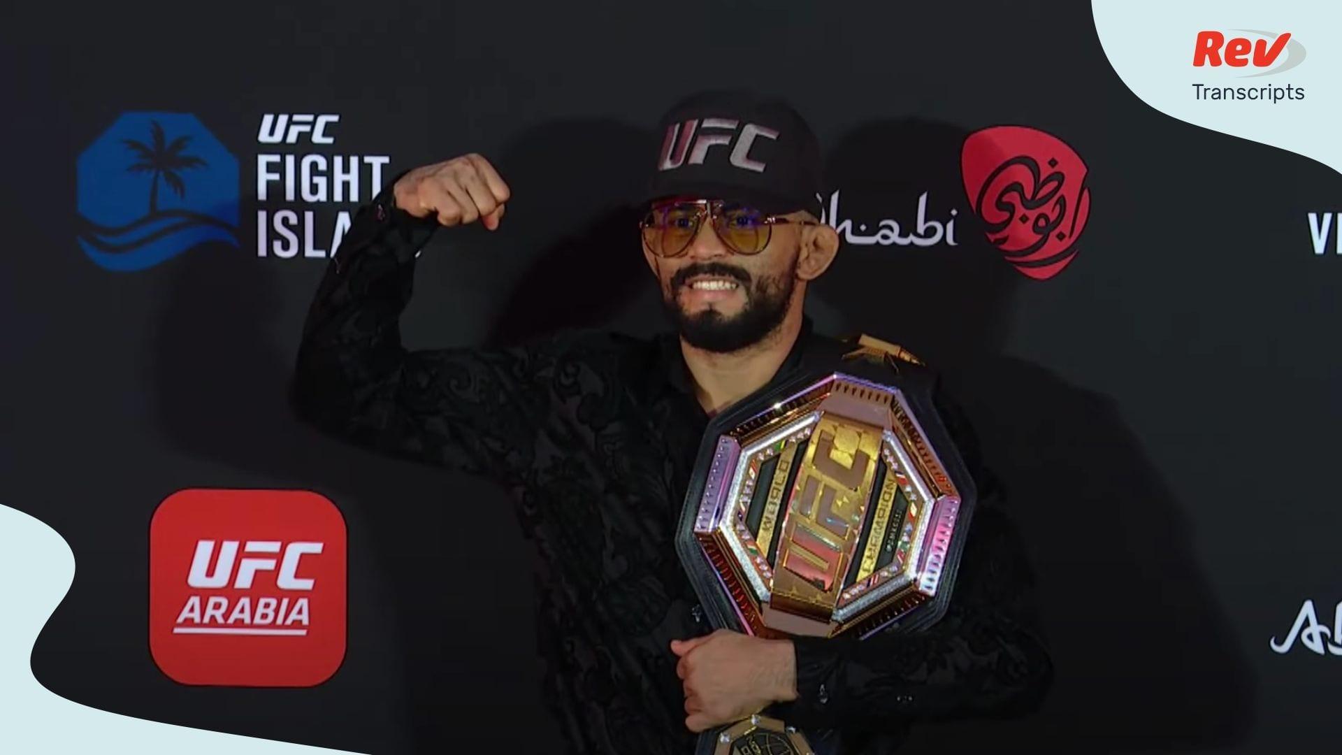 UFC Fight Island 2 Press Conference Transcript